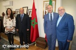 Embajadores de Israel y Marruecos en México con Moisés Amselem