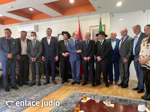 05-10-2021-RABINOS VISITAN LA EMBAJADA DE MARRUECOS PARA ANUNCIAR LA CREACIÓN DE NER HAMAARAVI 10