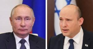 Primer Ministro de Israel, Naftali Bennett y el presidente de Rusia, Vladimir Putin
