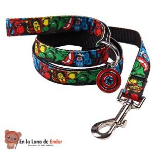 Correa de paseo Fanpets de Marvel para mascotas frikis