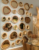 The Chamcha Wood Décor mirrors from The Phillips Collection