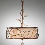 single-tier steel chandelier