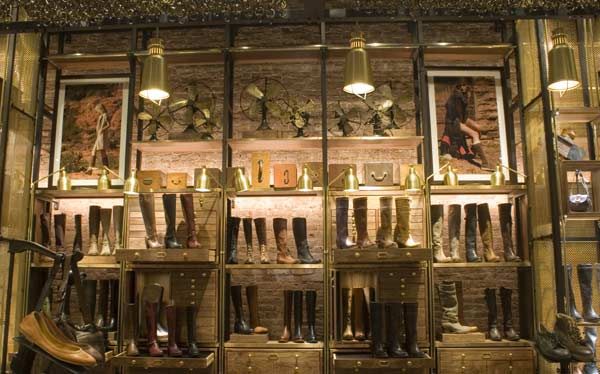 enlightenment magazine reports on the Lighting the Fry Boot Company's flagship store
