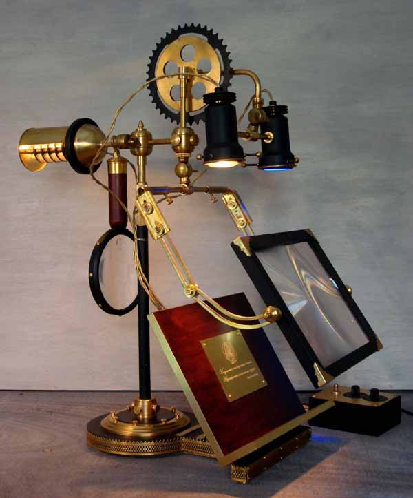 Steampunk Ferryman Reading Lamp by Donovan Designs