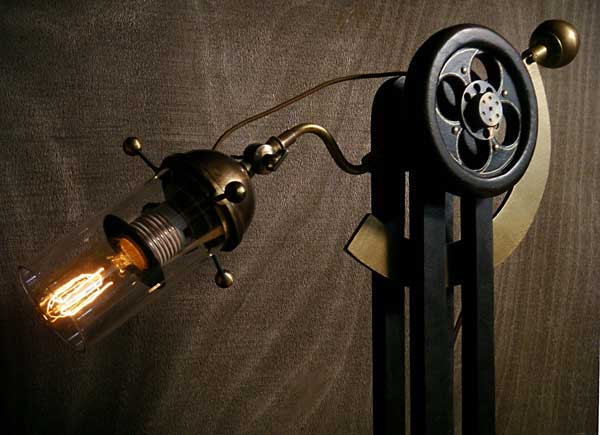enlightenment residential lighting fgeatures: Sultan Jack Table Lamp by Steampunk designer Art Donovan