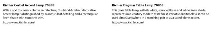 High Point Market Lighting Preview: Kichler-Corbel-Dagmar-Lamps