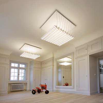 Benwirth Licht Murat Ceiling Luminaire: Light + BUilding in Frankfurt