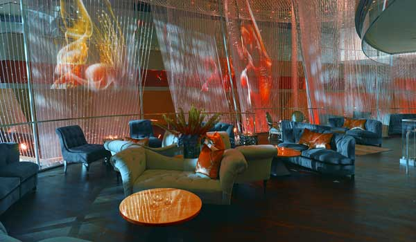 Architectural firm Rockwell Group of Manhattan Designs the Chandelier Bar