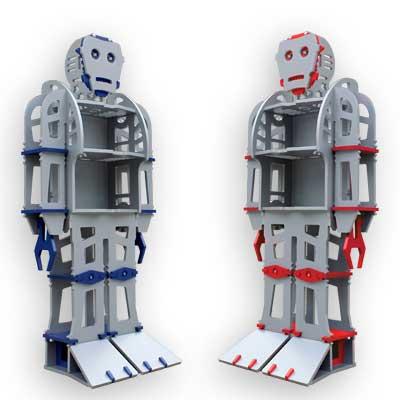 Atomic Playrooms ATLAS Robot Shelf