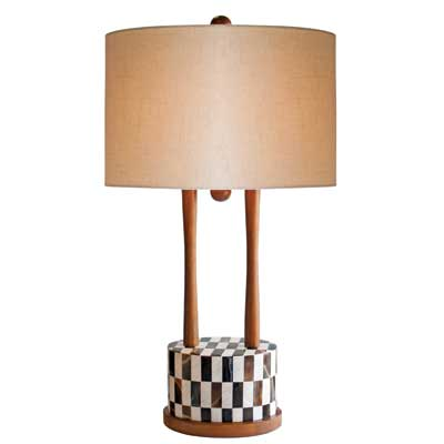 Couture Palm Canyon Twin-Light Table Lamp