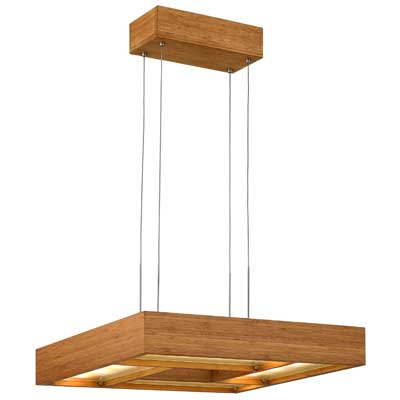 Hinkley Lighting: Cable-hung, Four-light Square Chandelier