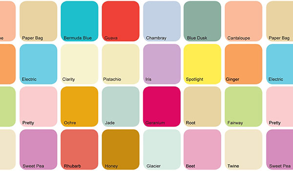 Color Swatches: Fashion Trends