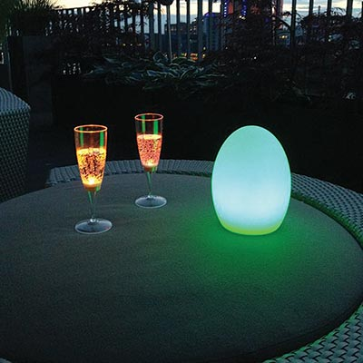 PublicLight: LED-powered champagne glasses