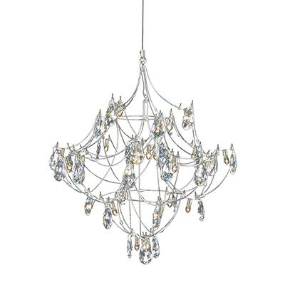 Polished Nickel chandelier  - Edge Lighting