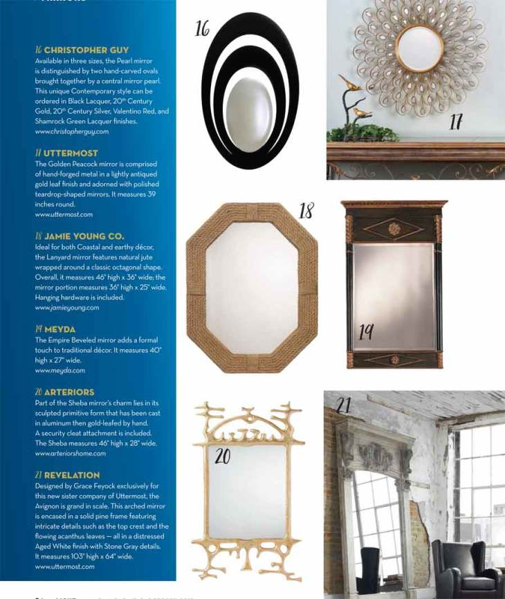 Designer Mirrors For the Home.