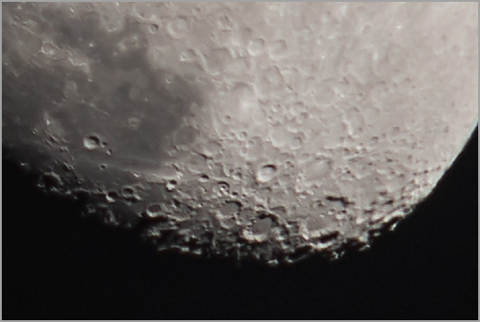 Image: Waxing gibbous moon and companion