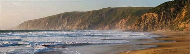 Image: McClures Beach at sunset, Point Reyes National Seashore, Marin County, California
