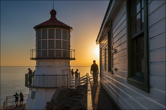 Image: Visitors at the Point Reyes Lighthouse, Point Reyes National Seashore, Marin County, California
