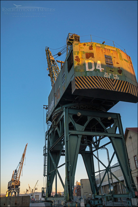 Image: D4 Industrial Crane, Mare Island Naval Shipyard National Historic Landmark, Vallejo, California