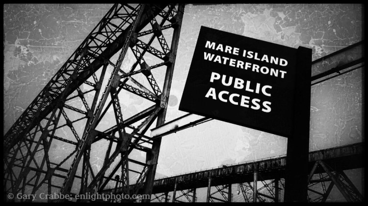 Image: Public access sign, Mare Island Naval Shipyard National Historic Landmark, Vallejo, California