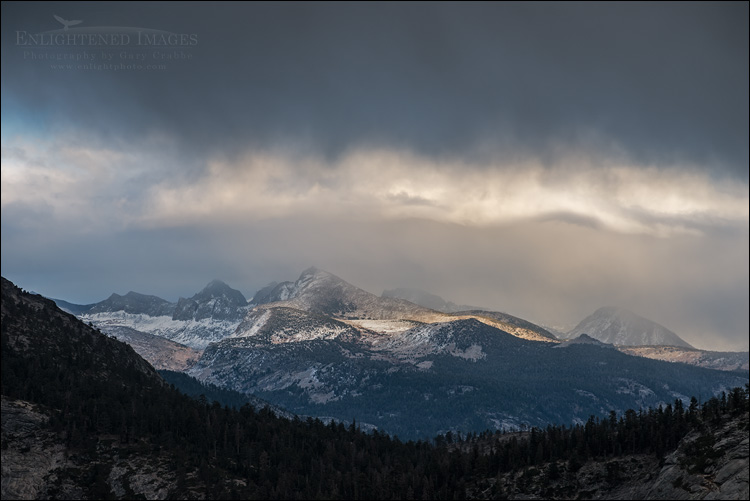 Image: Storm clouds over the Cathedral Range, Yosemite National Park, California