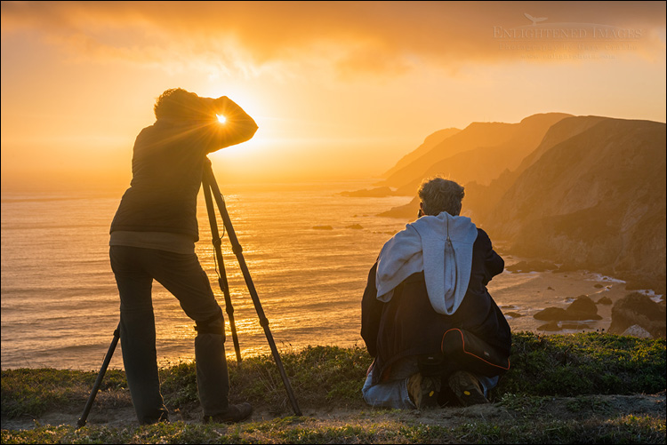Image: Photographers shooting the sunset at Point Reyes National Seashore, Marin County, California.