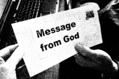 B&W message from God
