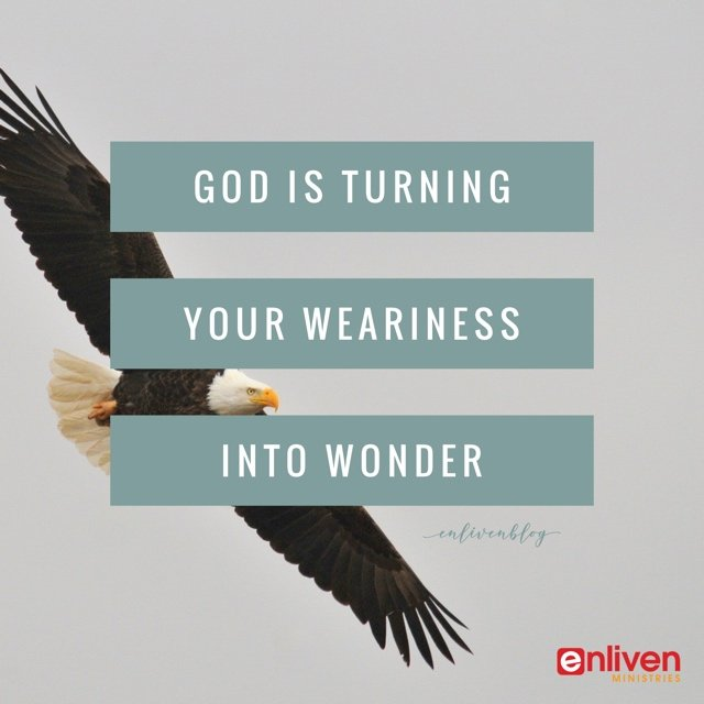 God is Turning Weariness to Wonder