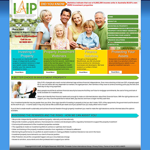 Investment Firm Web Design