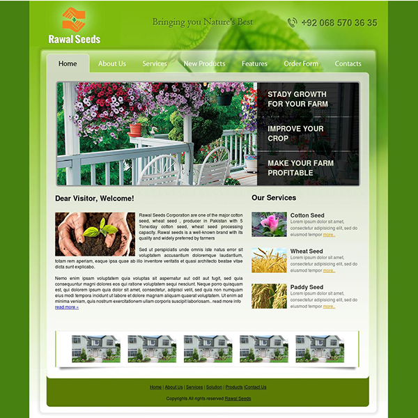 Agriculture Firm Web Design