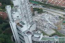 Edificio Space después de colapso torre 6