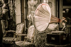 Gramófono viejo de Marina