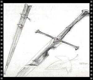 Cómo diseñar tu objeto especial: boceto de Narsil