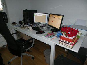 Mi habitación de escribir escritorio