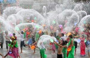Songkran Festival de l'eau , de la Thaïlande