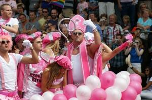 Gay  Parade , Amsterdam , Pays-Bas