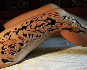 Tatouages pied en 3D