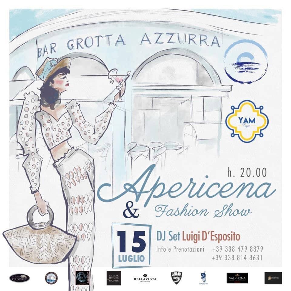 Capri. Mercoledì 15 Luglio apericena e fashion show al Bar Grotta Azzurra