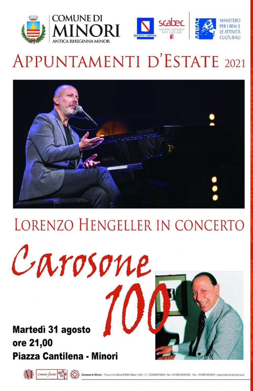 Minori, martedì 31 agosto Lorenzo Hengeller in concerto