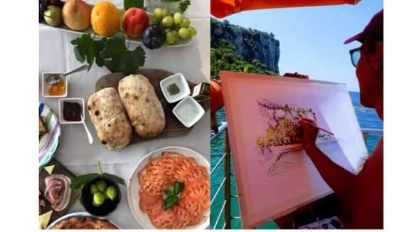 Vico Equense, domenica all'Hotel & Resort le Axidie con la Colazione di Villa Rosa e l'arte del maestro Sergio Buonocore