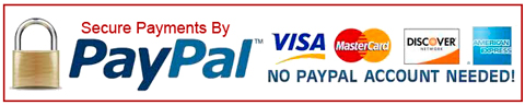 Secure Payments by PayPal or Credit Card