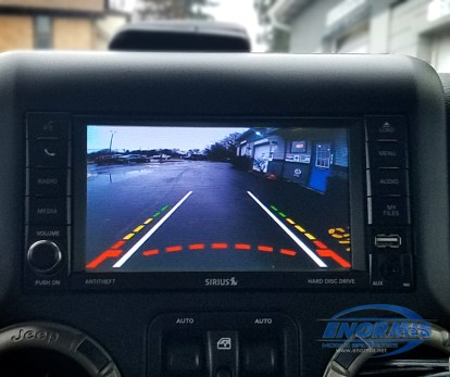 2018 Jeep Wrangler Display with Camera