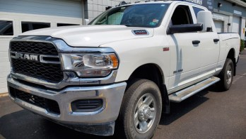 RAM 2500 Tow Mirrors Get Installed On This 2019 New Body Work Truck