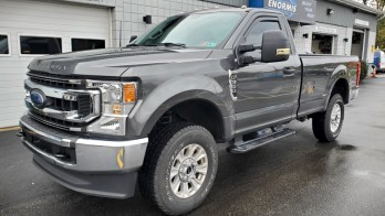 2020 Ford F-350 gets OE Power Fold Tow Mirrors Installed