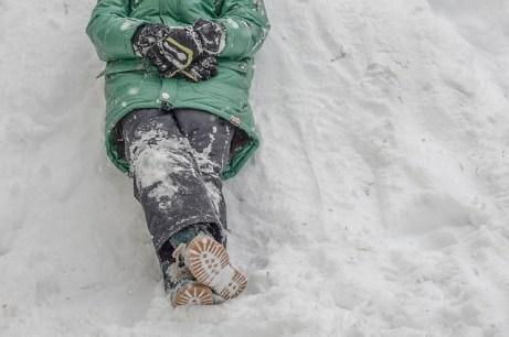 31. Schneeengel machen