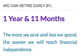 Retire Early by 1 Year and 11 Months