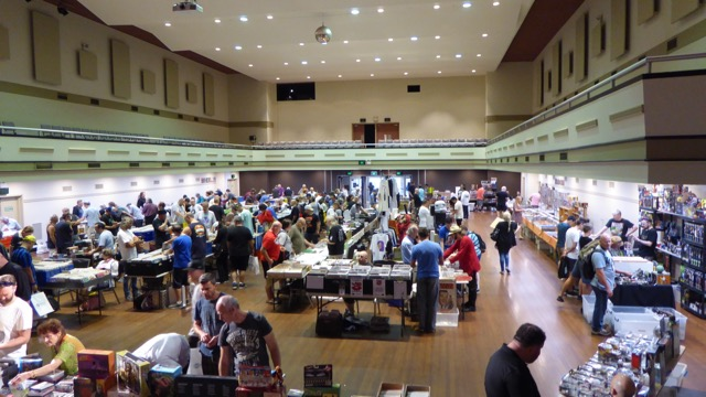 The hall of the Sci-Fi Collectables Fair at Hurstville.