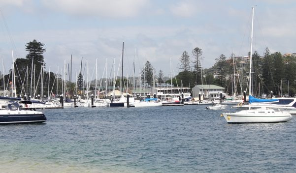 Boats on the water at Clontarf.