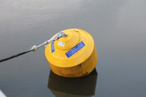 A floating mooring point.