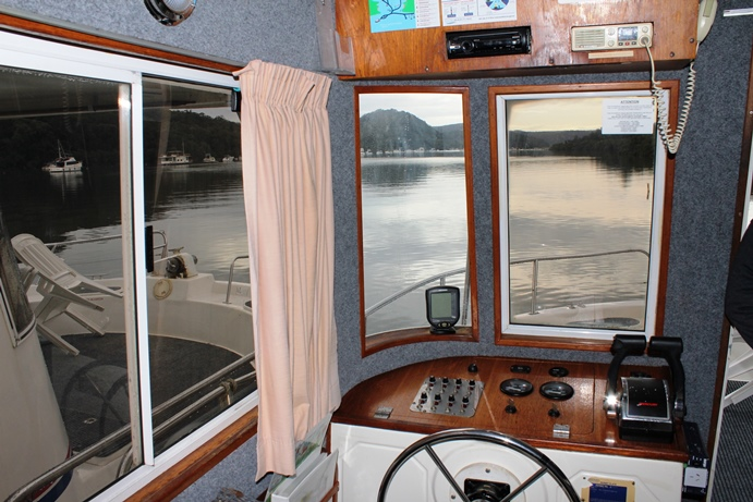 The Captain's Seat in our houseboat.